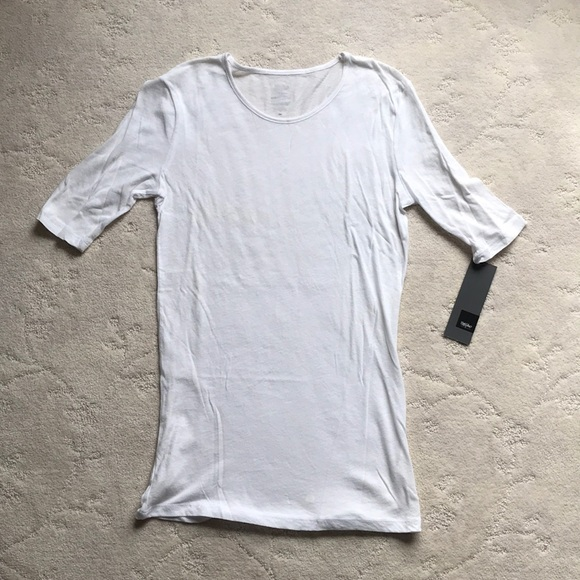 f1169569 Mossimo Supply Co. Tops | White Long Light Weight Tissue 34 Sleeve ...